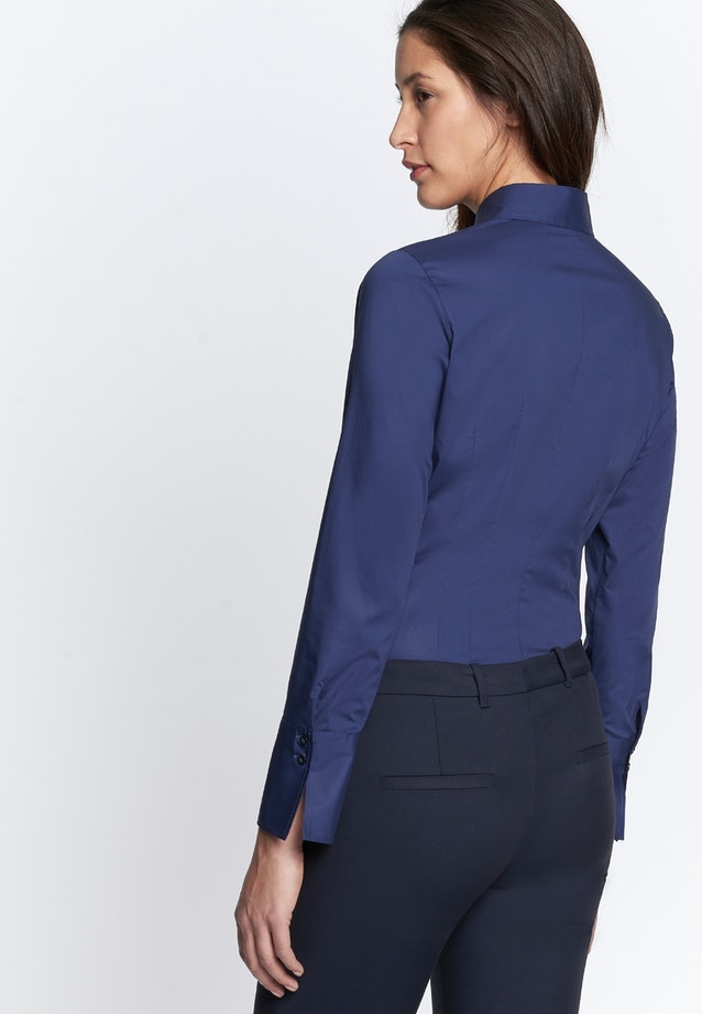 Popeline Body Blouse made of cotton blend in Dark blue |  Seidensticker Onlineshop