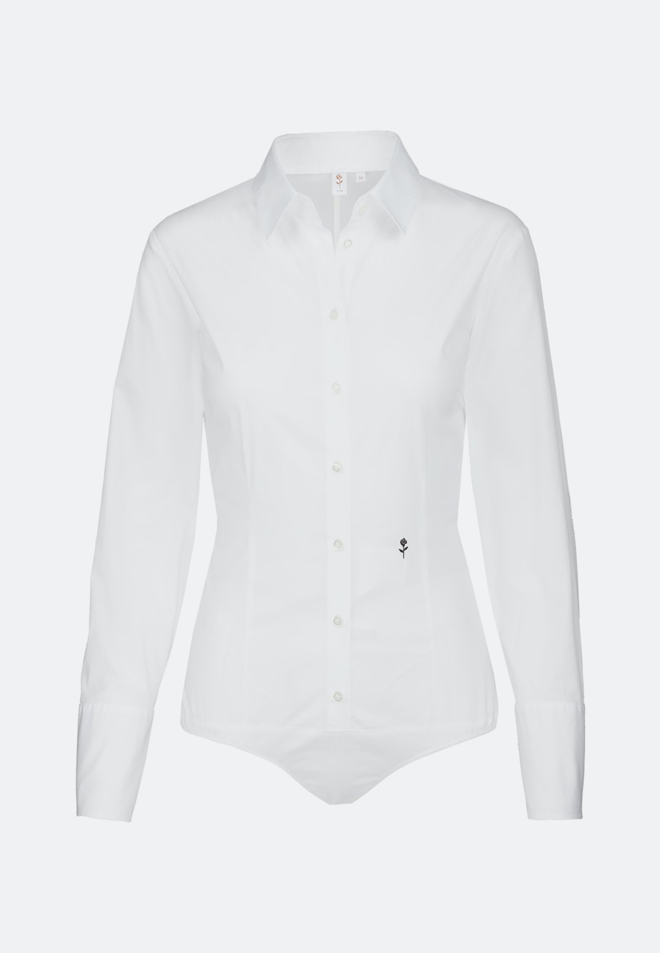 Popeline Body Blouse made of cotton blend in White |  Seidensticker Onlineshop