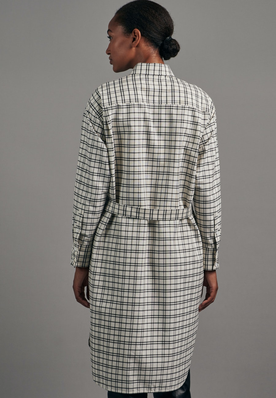 Panama Midi Kleid aus 100% Baumwolle in Ecru |  Seidensticker Onlineshop