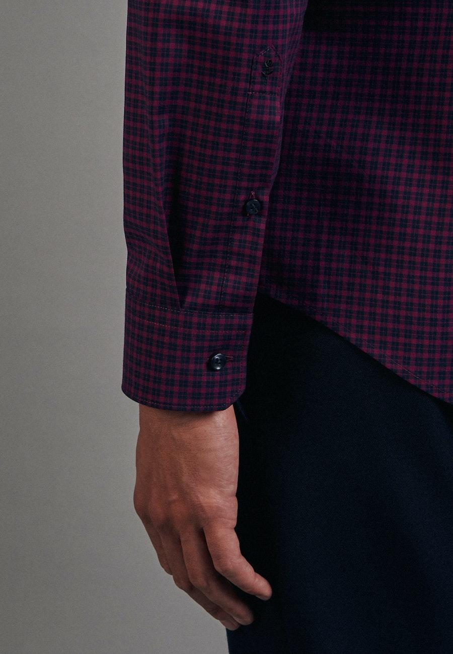 Bügelfreies Popeline Business Hemd in Slim mit Button-Down-Kragen in Rosa/Pink |  Seidensticker Onlineshop