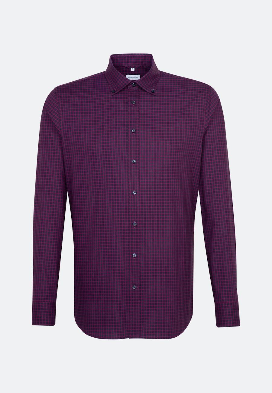 Non-iron Popeline Business Shirt in Slim with Button-Down-Collar in Pink    Seidensticker Onlineshop