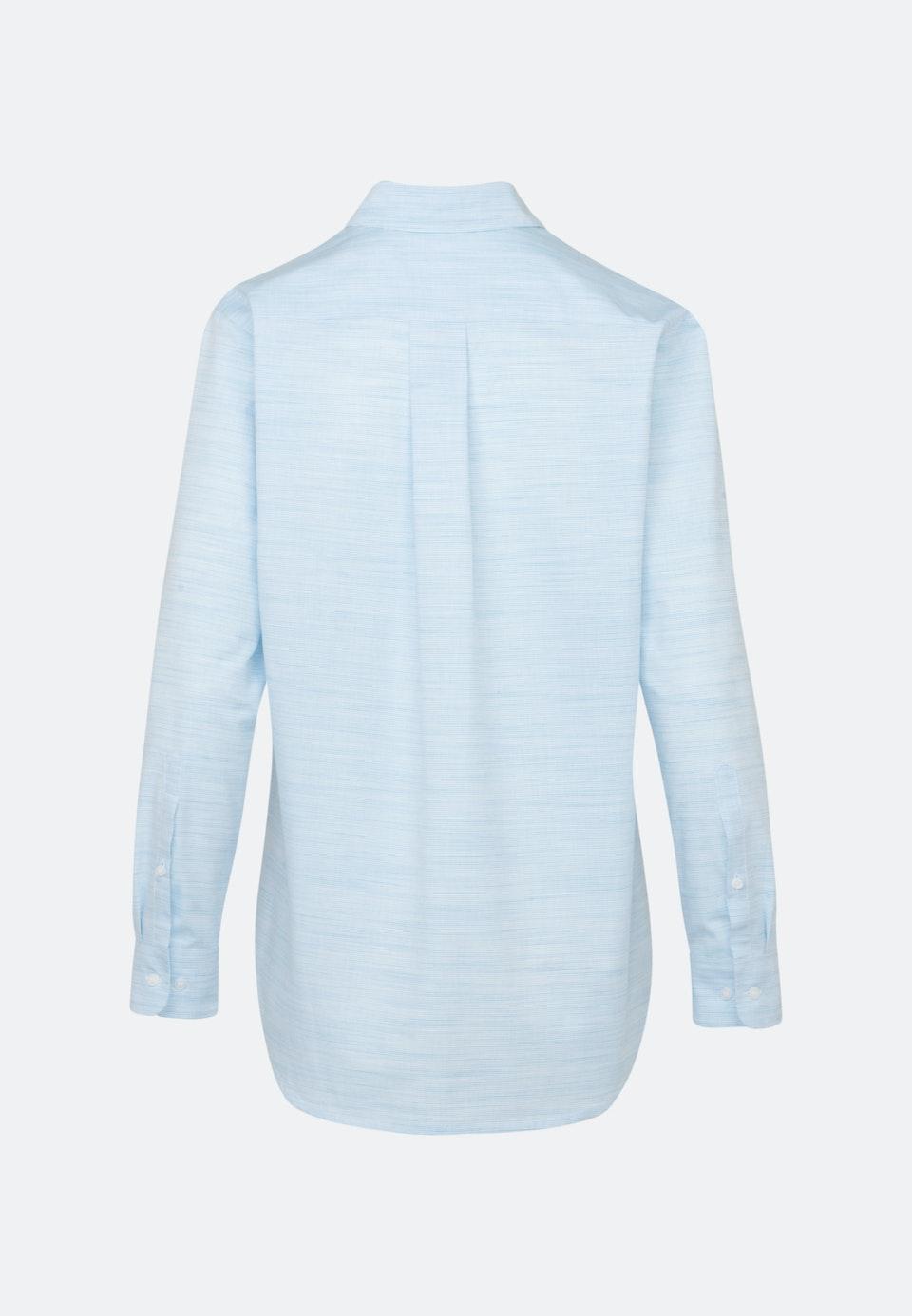 Popeline Shirt Blouse made of 100% Cotton in Light blue |  Seidensticker Onlineshop