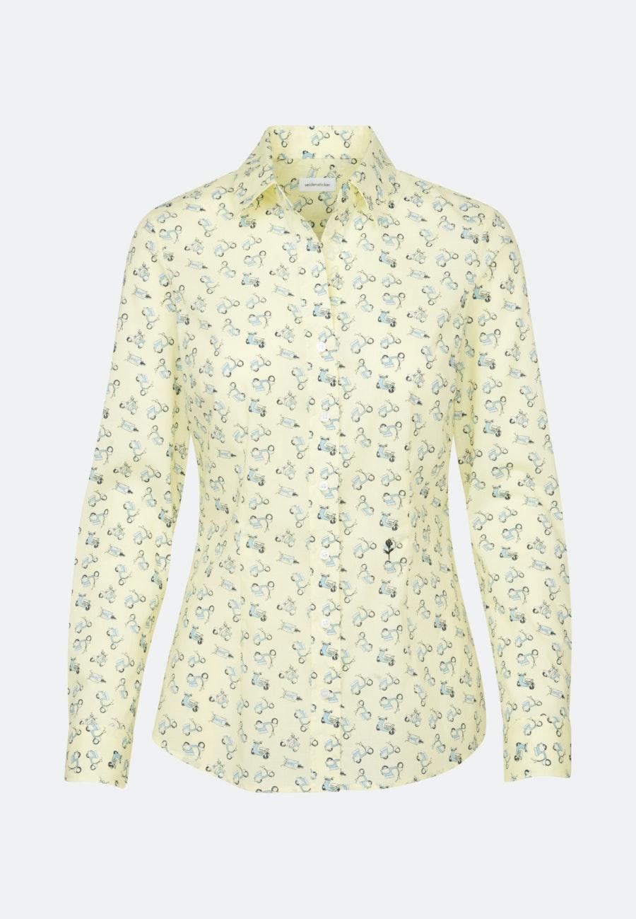 Popeline Hemdbluse aus 100% Baumwolle in Gelb    Seidensticker Onlineshop
