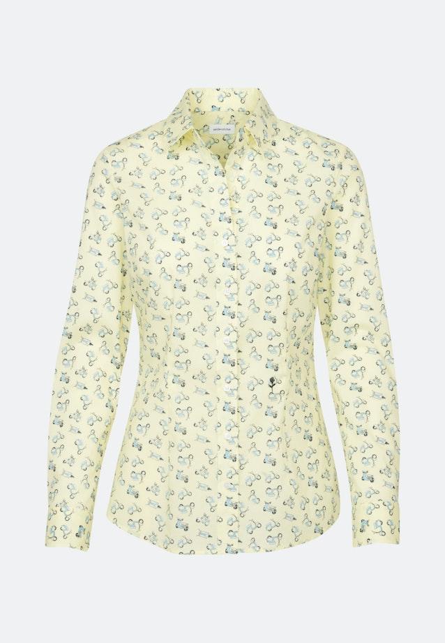 Popeline Shirt Blouse made of 100% Cotton in Yellow |  Seidensticker Onlineshop