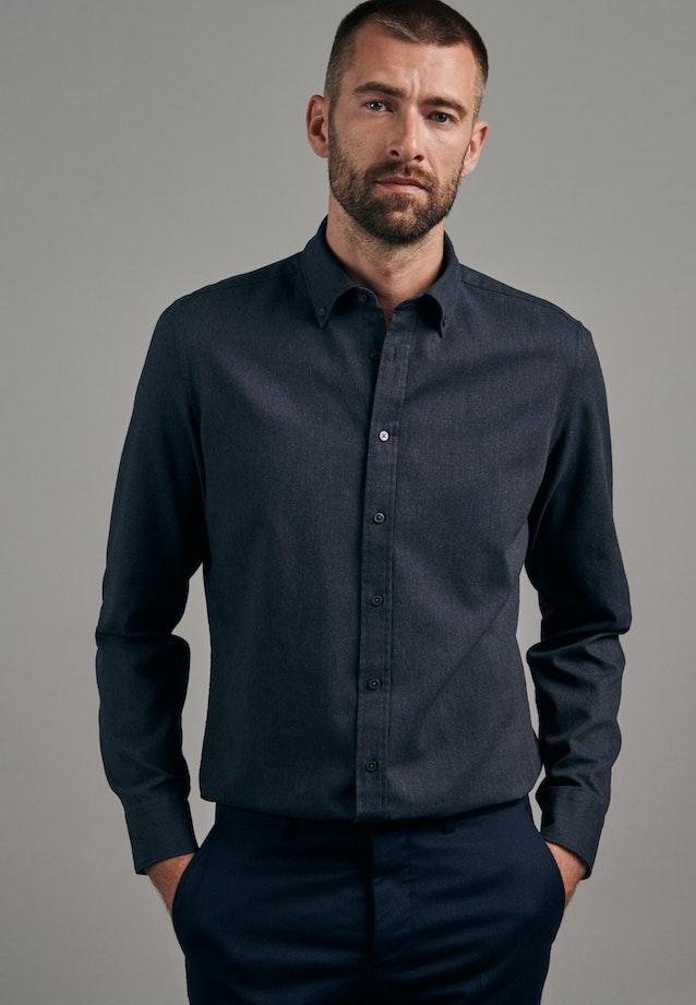 Panama Business Hemd in Shaped mit Button-Down-Kragen in Grau |  Seidensticker Onlineshop