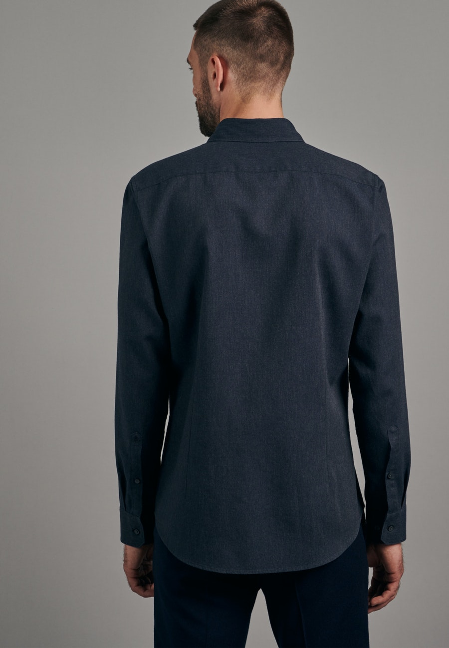 Panama Business Shirt in Shaped with Button-Down-Collar in Grey |  Seidensticker Onlineshop