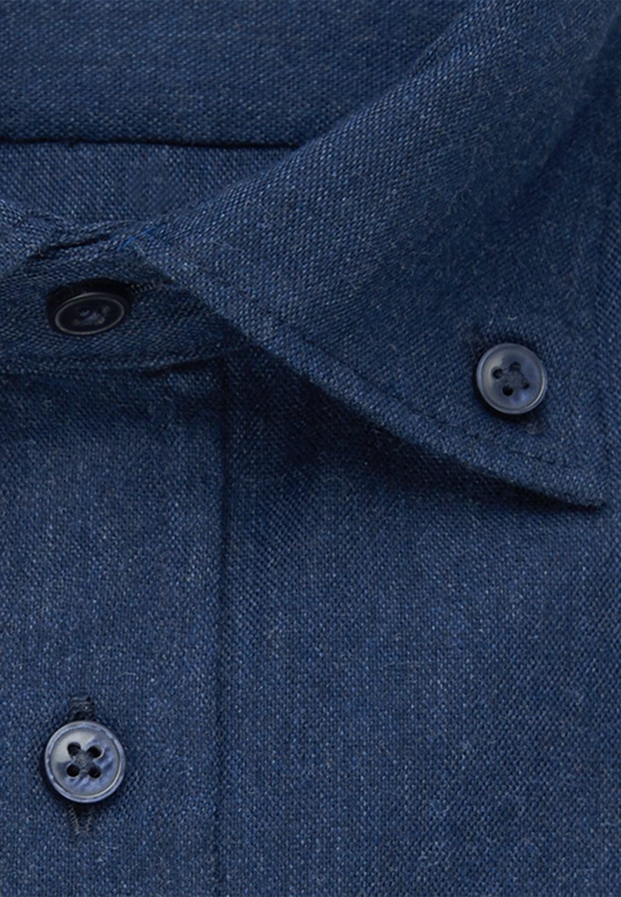 Panama Business Hemd in Shaped mit Button-Down-Kragen in Dunkelblau |  Seidensticker Onlineshop