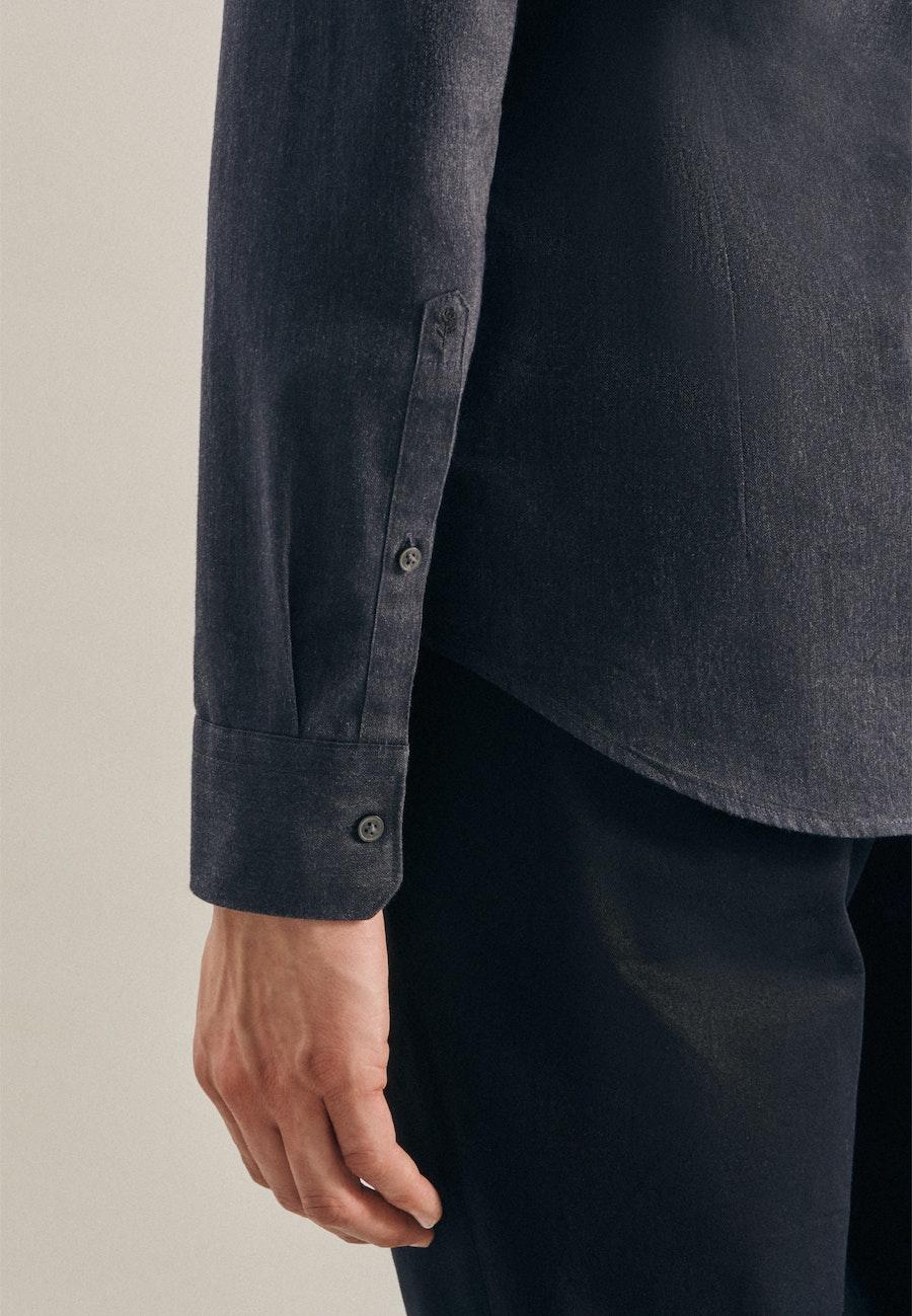 Panama Business Hemd in Slim mit Button-Down-Kragen in Grau |  Seidensticker Onlineshop