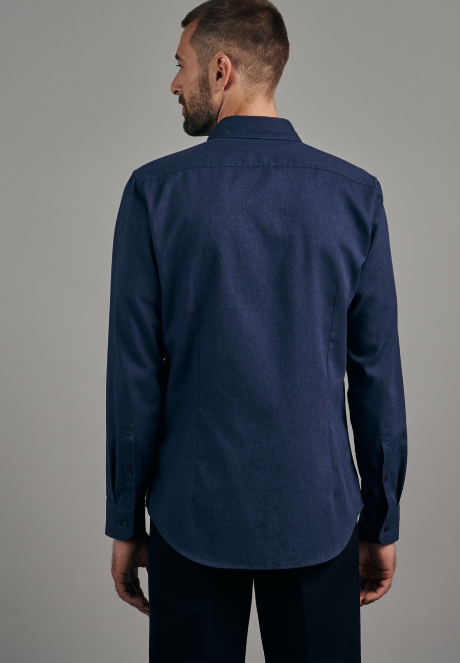 Panama Business Shirt in Slim with Button-Down-Collar in Dark blue |  Seidensticker Onlineshop