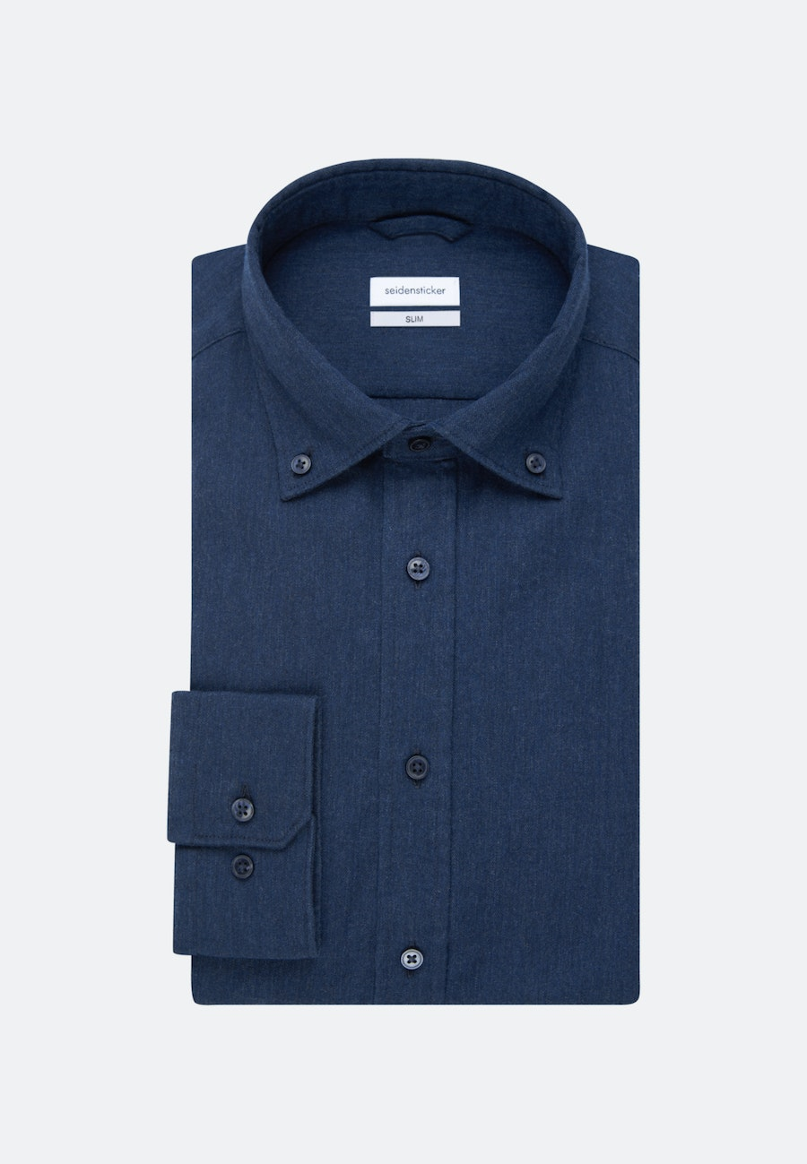 Panama Business Hemd in Slim mit Button-Down-Kragen in Dunkelblau |  Seidensticker Onlineshop