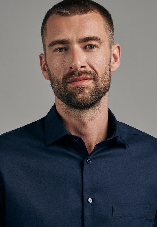Twill Business Shirt in Shaped with Kent-Collar in Dark blue |  Seidensticker Onlineshop