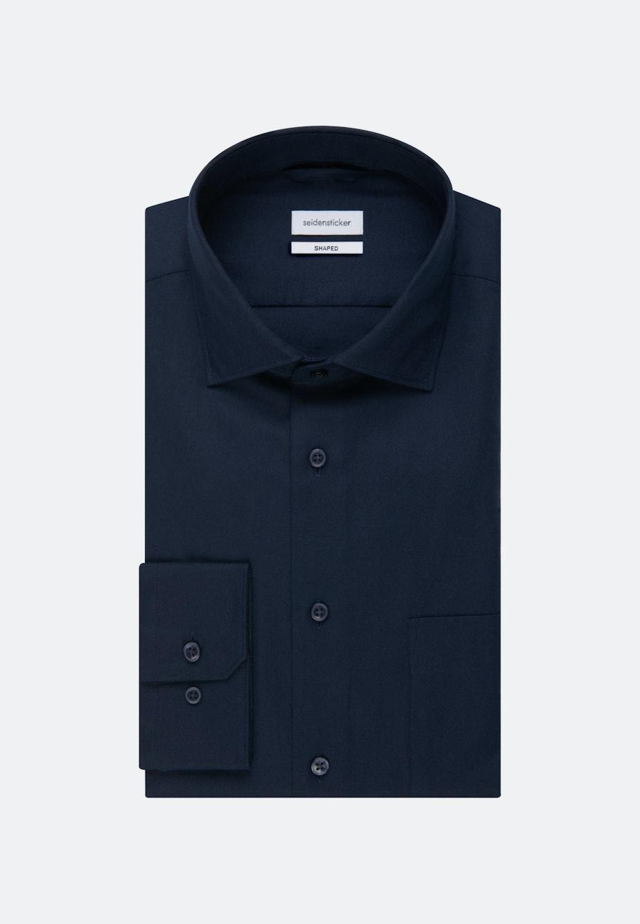Twill Business Shirt in Shaped with Kent-Collar in Dark blue    Seidensticker Onlineshop