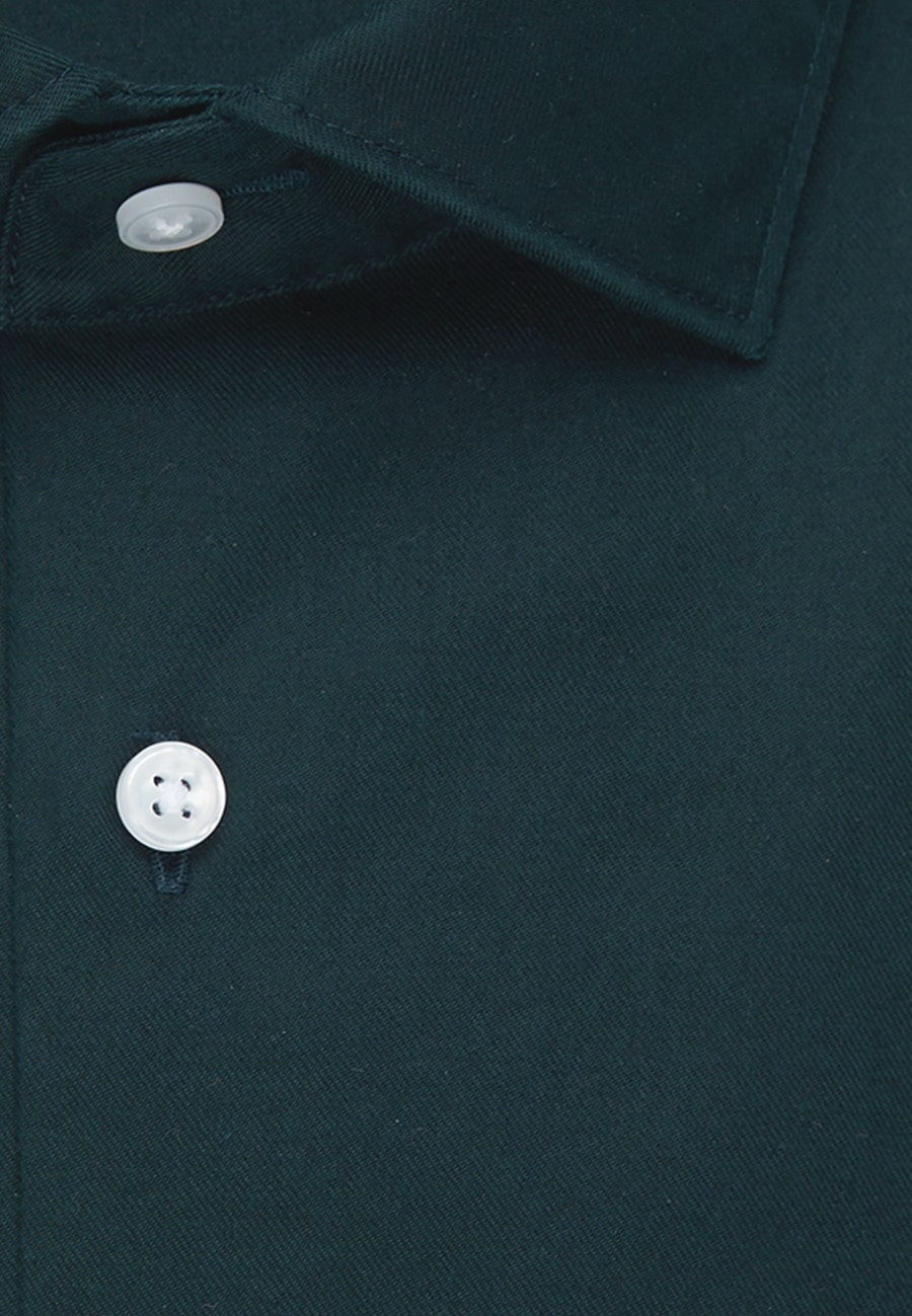 Twill Business Shirt in Shaped with Kent-Collar in Green    Seidensticker Onlineshop