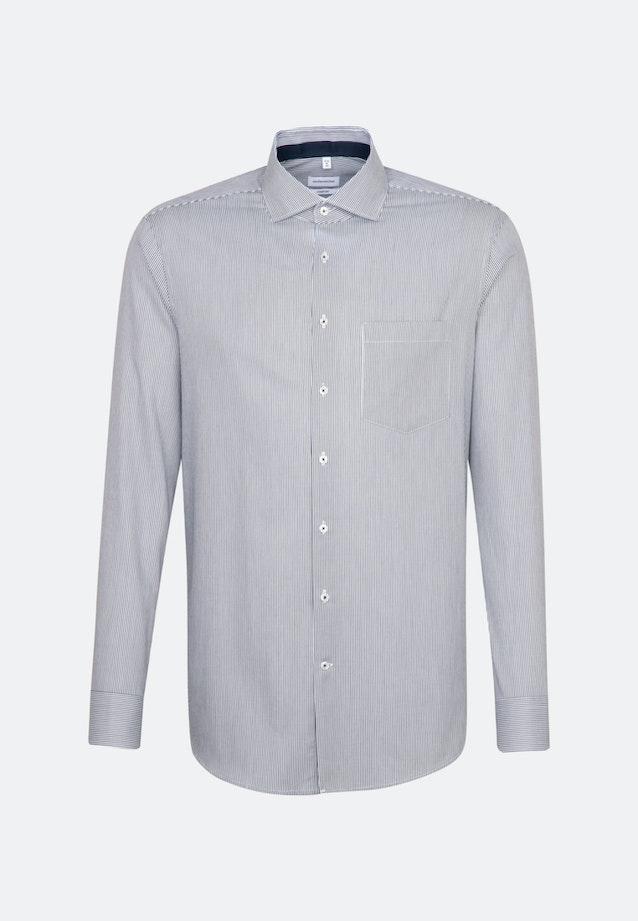 Non-iron Twill Business Shirt in Comfort with Kent-Collar in Dark blue    Seidensticker Onlineshop