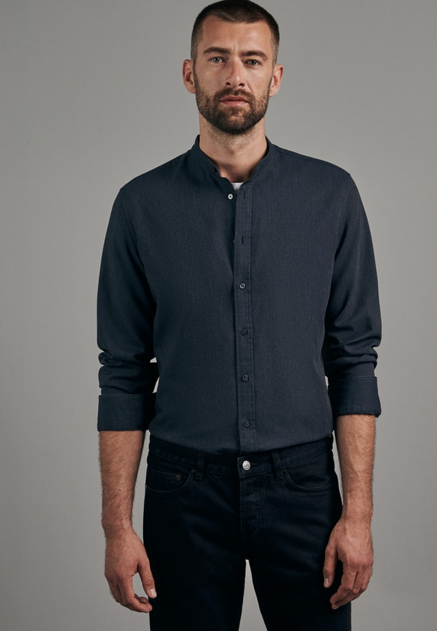 Panama Business Shirt in Slim with Stand-Up Collar in Grey |  Seidensticker Onlineshop