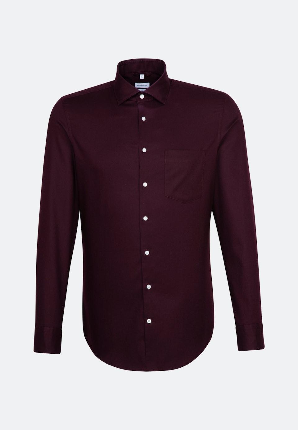 Twill Business Shirt in Slim with Kent-Collar in Red |  Seidensticker Onlineshop