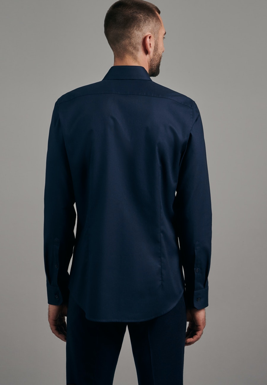 Twill Business Hemd in Slim mit Kentkragen in Dunkelblau |  Seidensticker Onlineshop