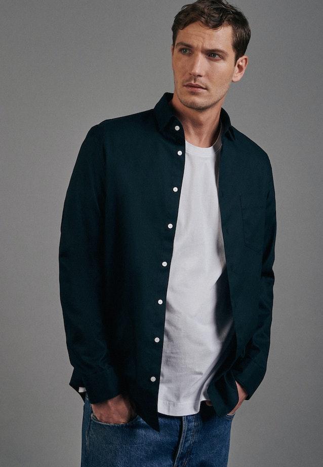 Twill Business Shirt in Slim with Kent-Collar in Green    Seidensticker Onlineshop