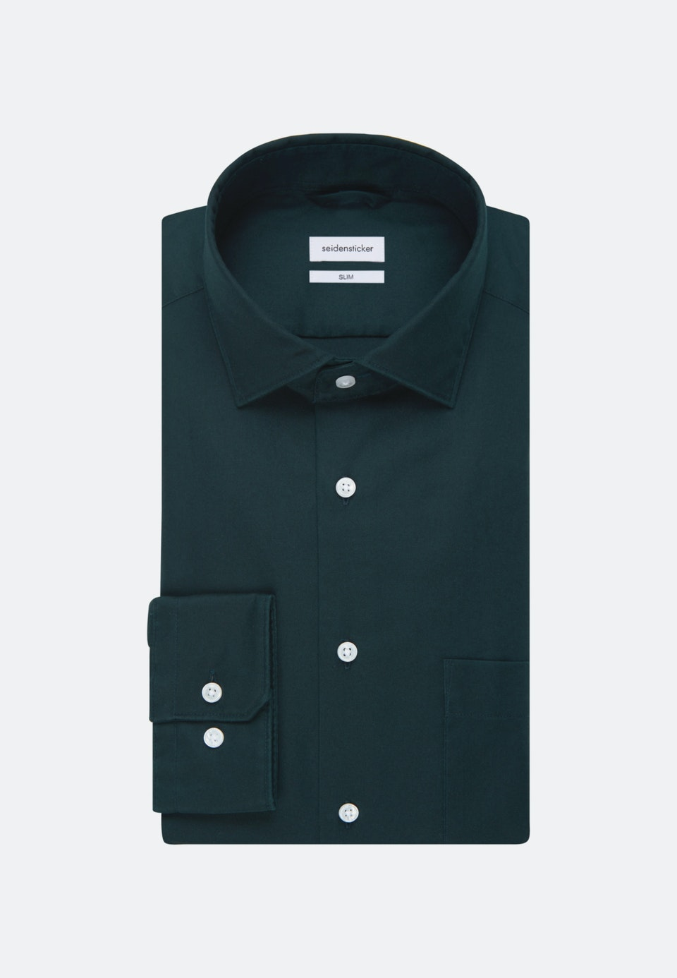Twill Business Shirt in Slim with Kent-Collar in Green |  Seidensticker Onlineshop