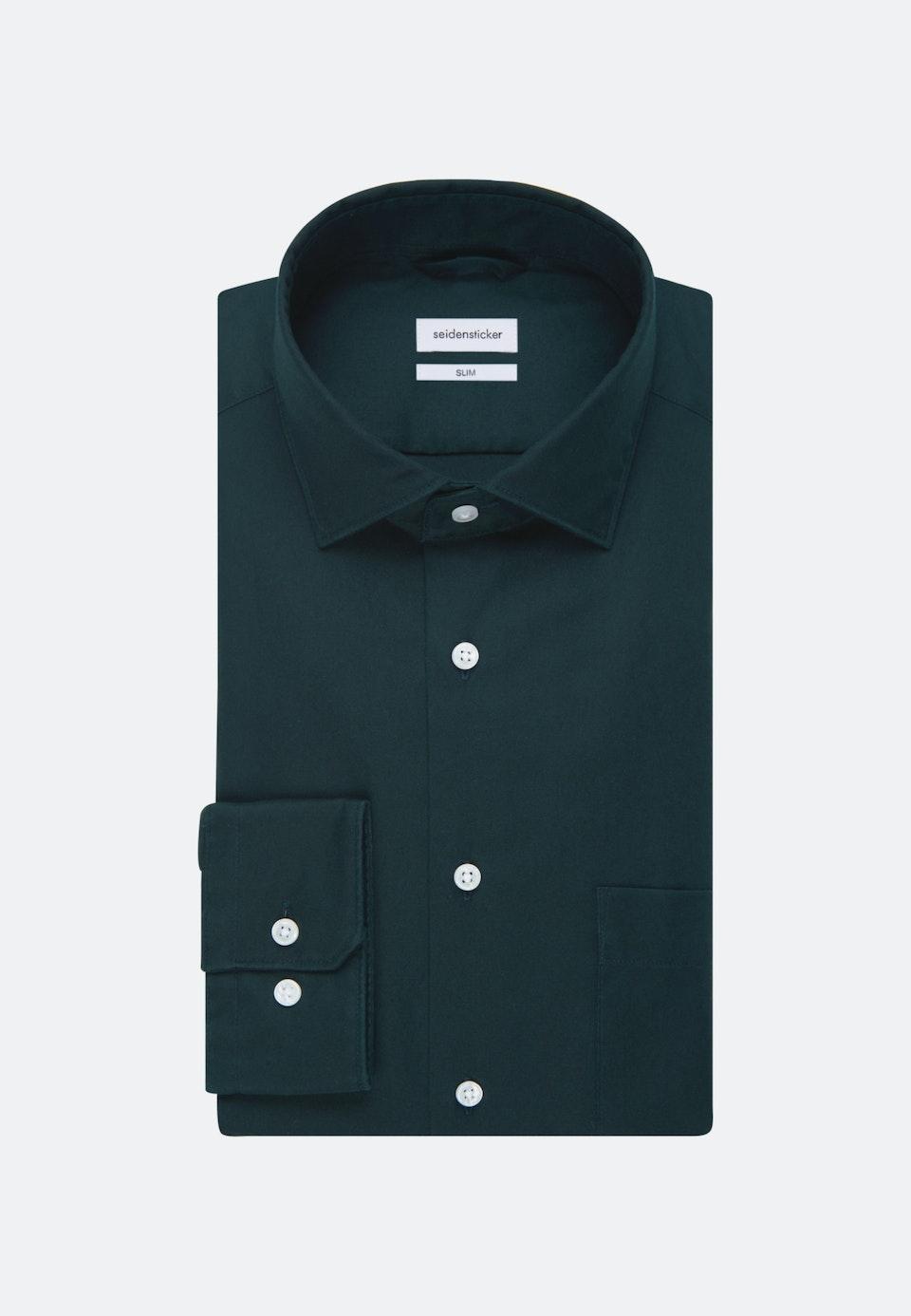 Twill Business Hemd in Slim mit Kentkragen in Grün    Seidensticker Onlineshop