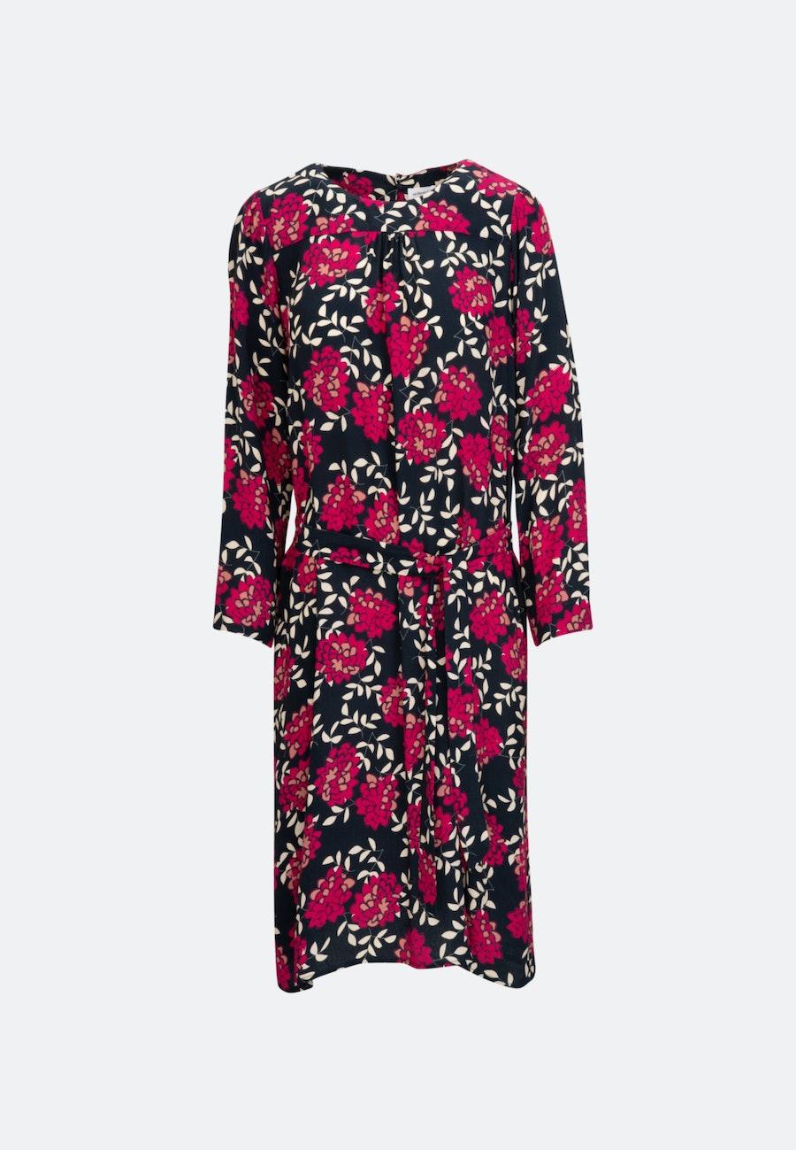 Krepp Midi Dress made of 100% Viscose in Dark blue |  Seidensticker Onlineshop