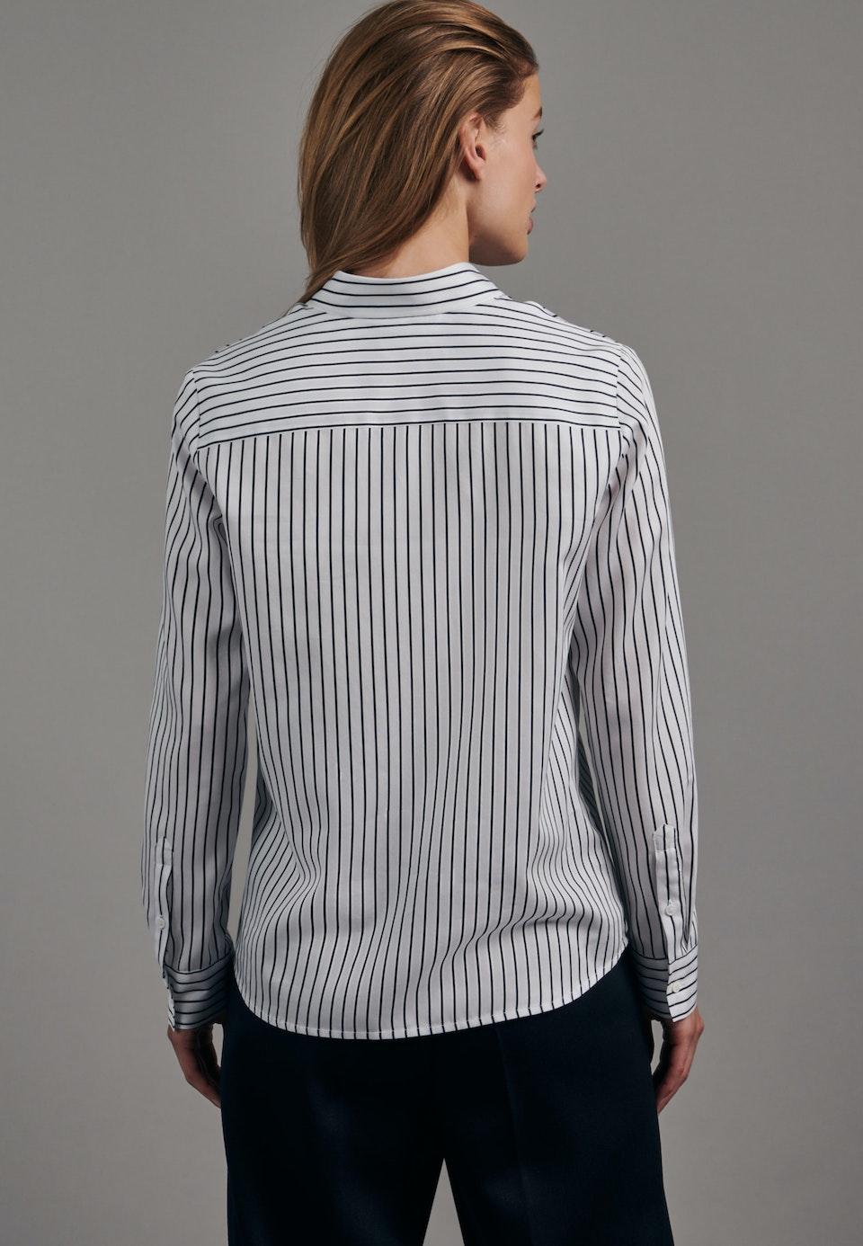 Satin Hemdbluse aus 100% Baumwolle in Weiß    Seidensticker Onlineshop