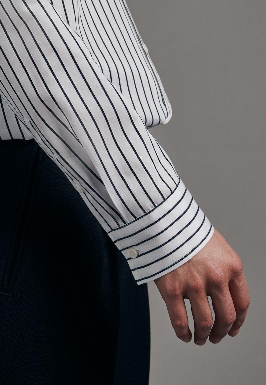Satin Hemdbluse aus 100% Baumwolle in Weiß |  Seidensticker Onlineshop