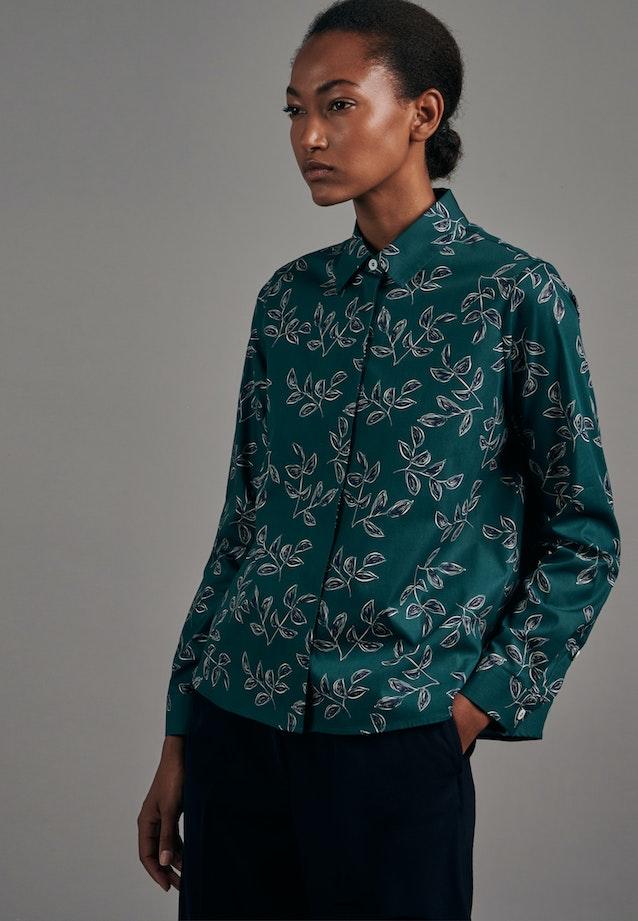 Popeline Shirt Blouse made of 100% Cotton in Green |  Seidensticker Onlineshop