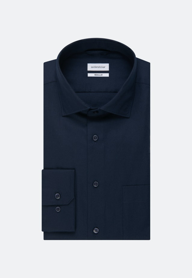 Twill Business Shirt in Regular with Kent-Collar in Dark blue |  Seidensticker Onlineshop