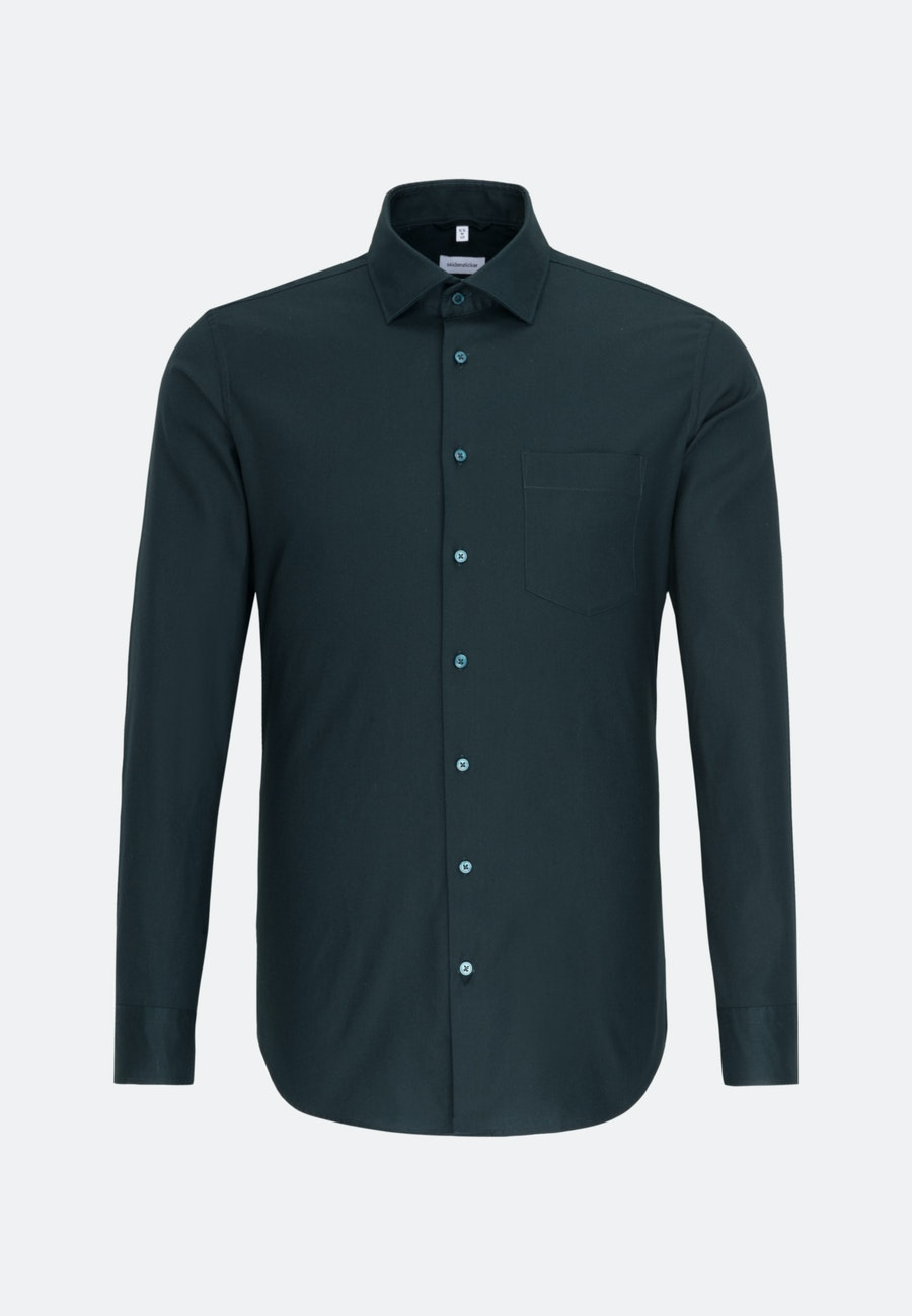 Twill Business Hemd in Regular mit Kentkragen in Grün |  Seidensticker Onlineshop