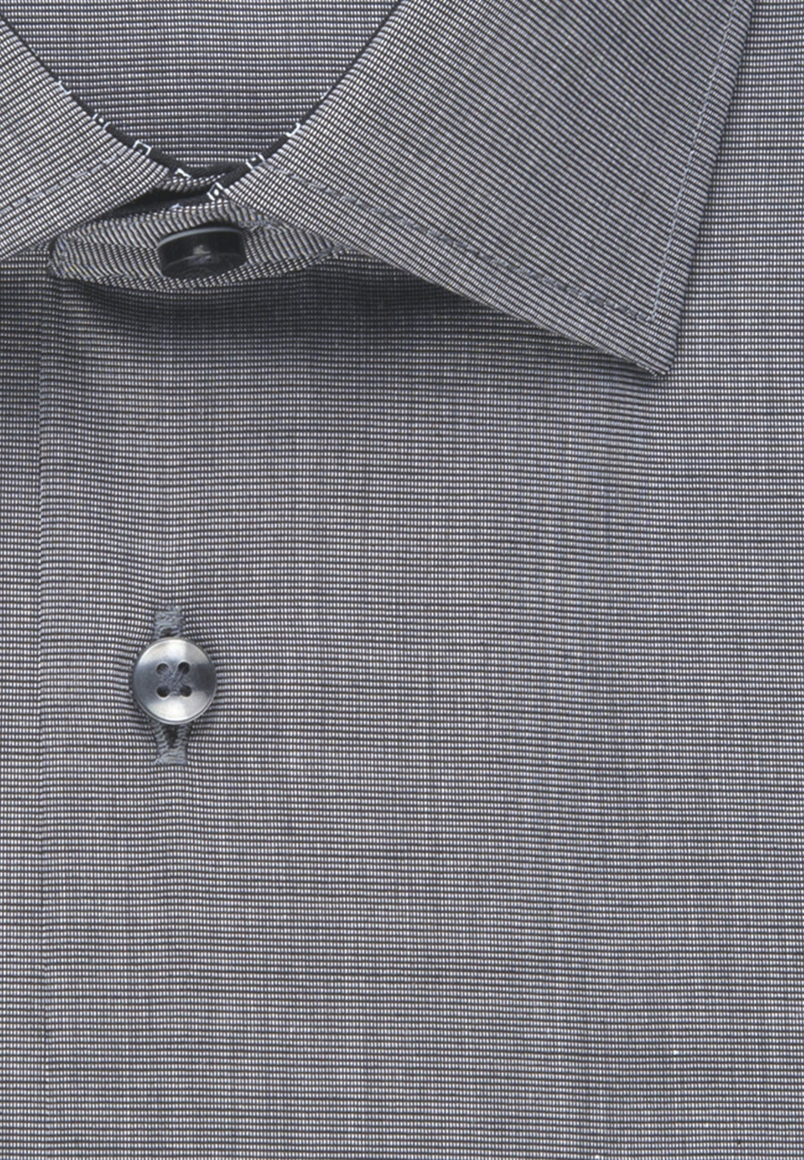 Non-iron Poplin Business Shirt in Comfort with Kent-Collar in Grey |  Seidensticker Onlineshop
