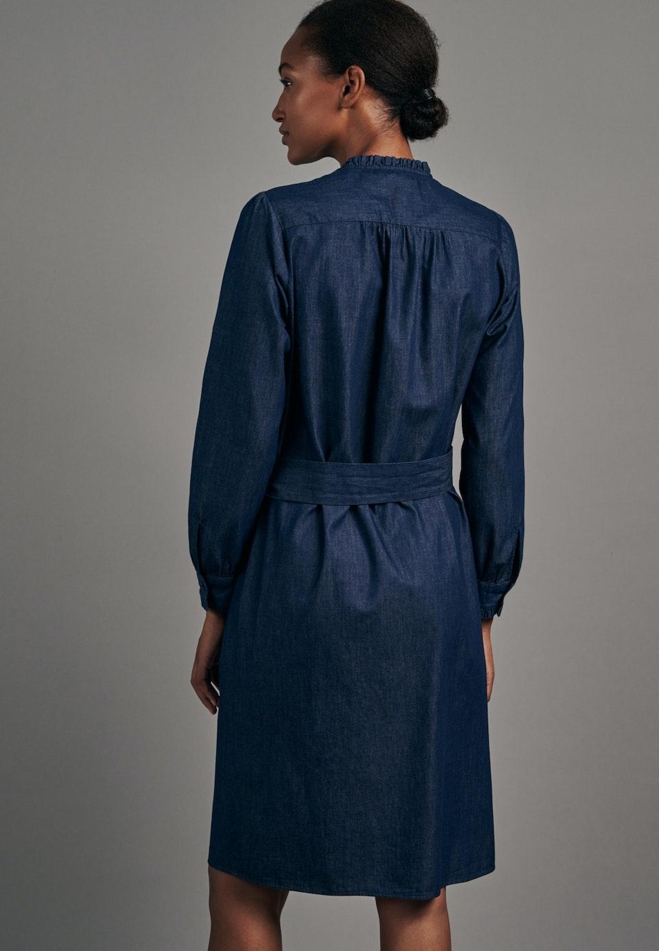 Denim Midi Kleid aus 100% Baumwolle in Dunkelblau |  Seidensticker Onlineshop