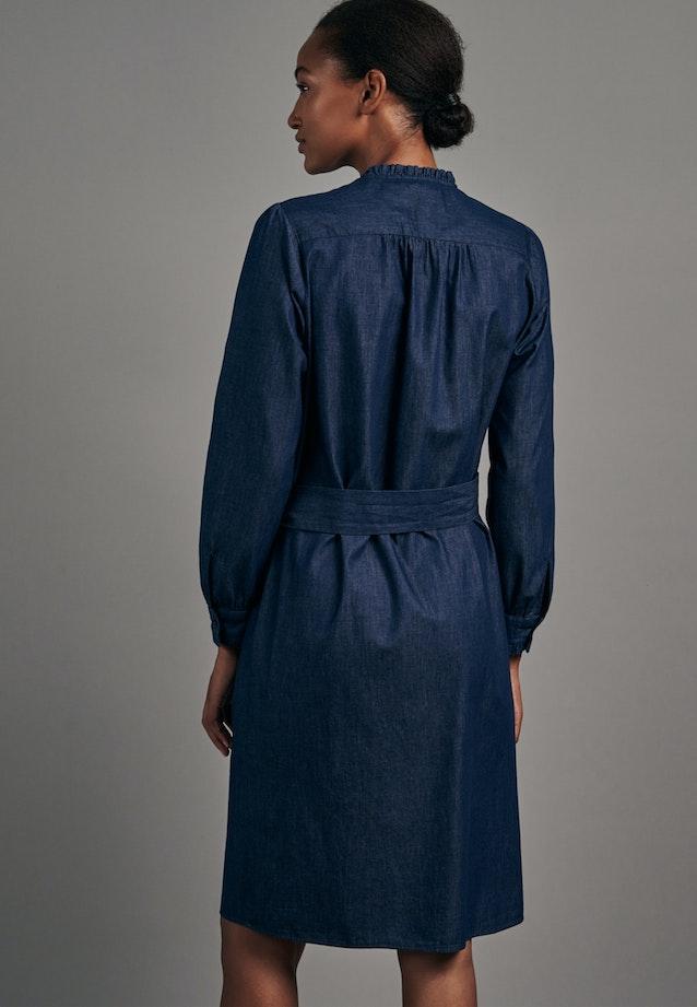 Denim Midi Kleid aus 100% Baumwolle in Dunkelblau    Seidensticker Onlineshop