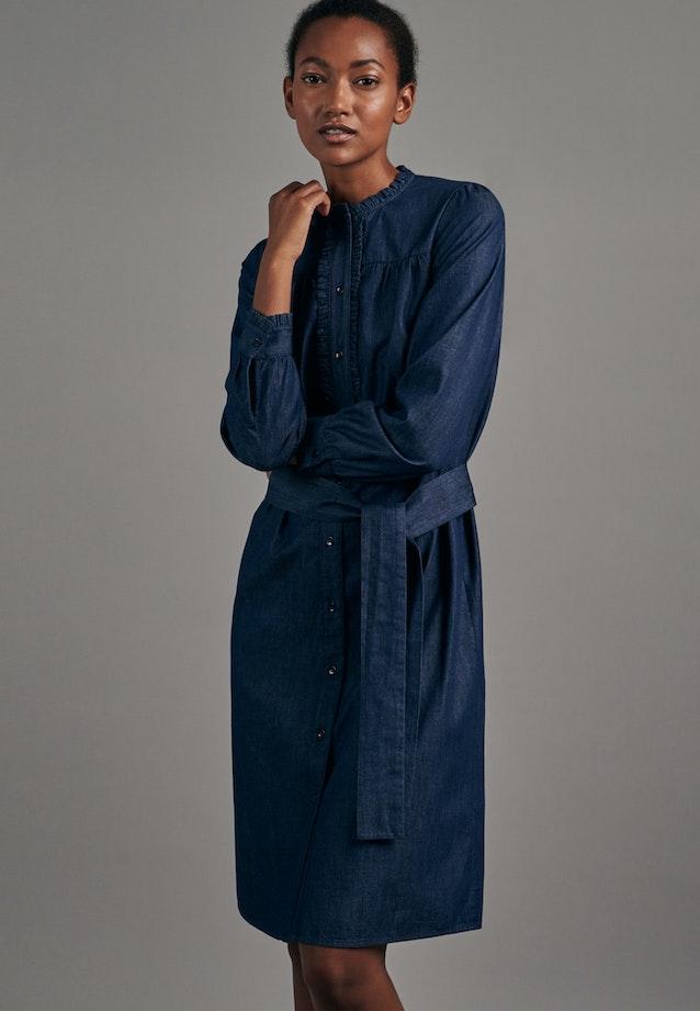 Denim Midi Dress made of 100% Cotton in Dark blue |  Seidensticker Onlineshop