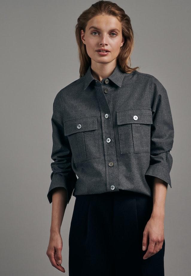 Flanell Hemdbluse aus 100% Baumwolle in Grau |  Seidensticker Onlineshop