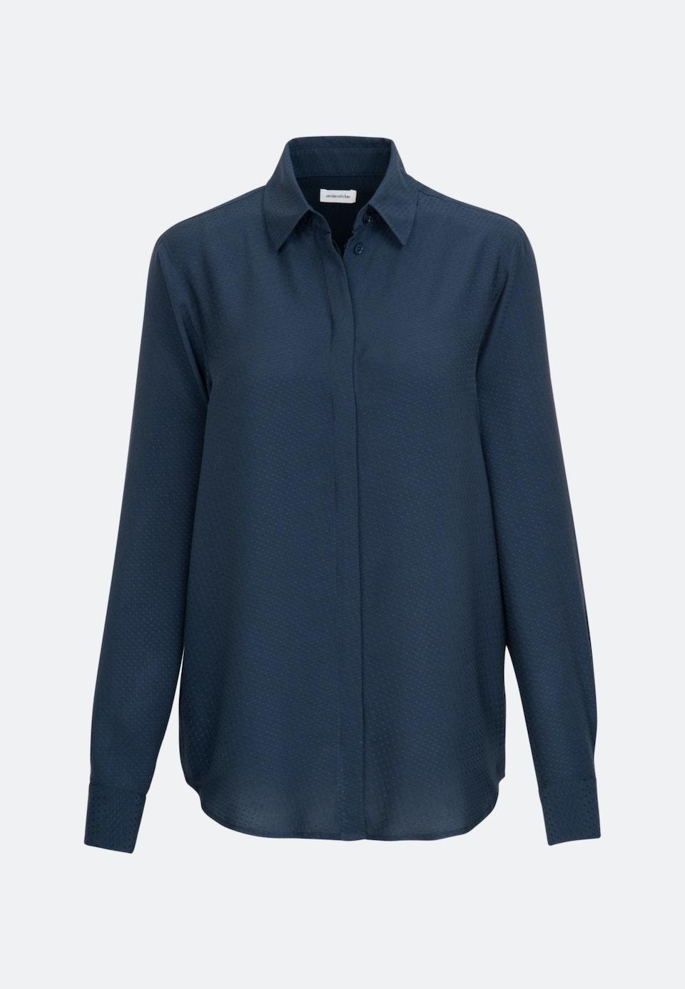 Jacquard Shirt Blouse made of 100% Viscose in Dark blue |  Seidensticker Onlineshop