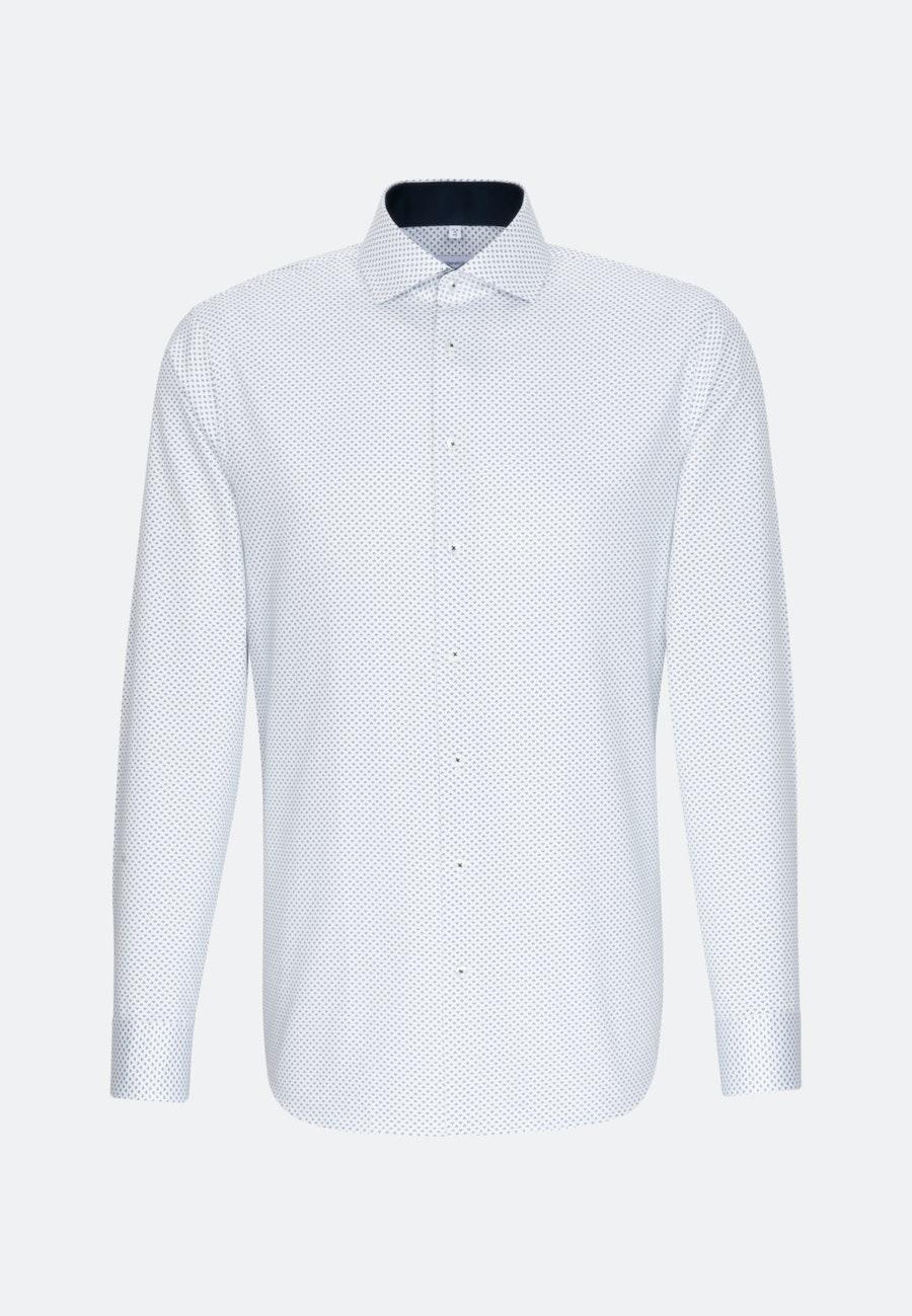 Easy-iron Twill Business Shirt in Shaped with Kent-Collar in Dark blue    Seidensticker Onlineshop