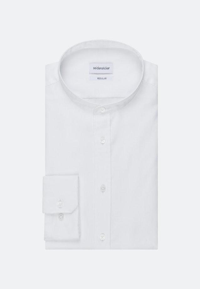 Twill Business Hemd in Regular mit Stehkragen in Weiß |  Seidensticker Onlineshop