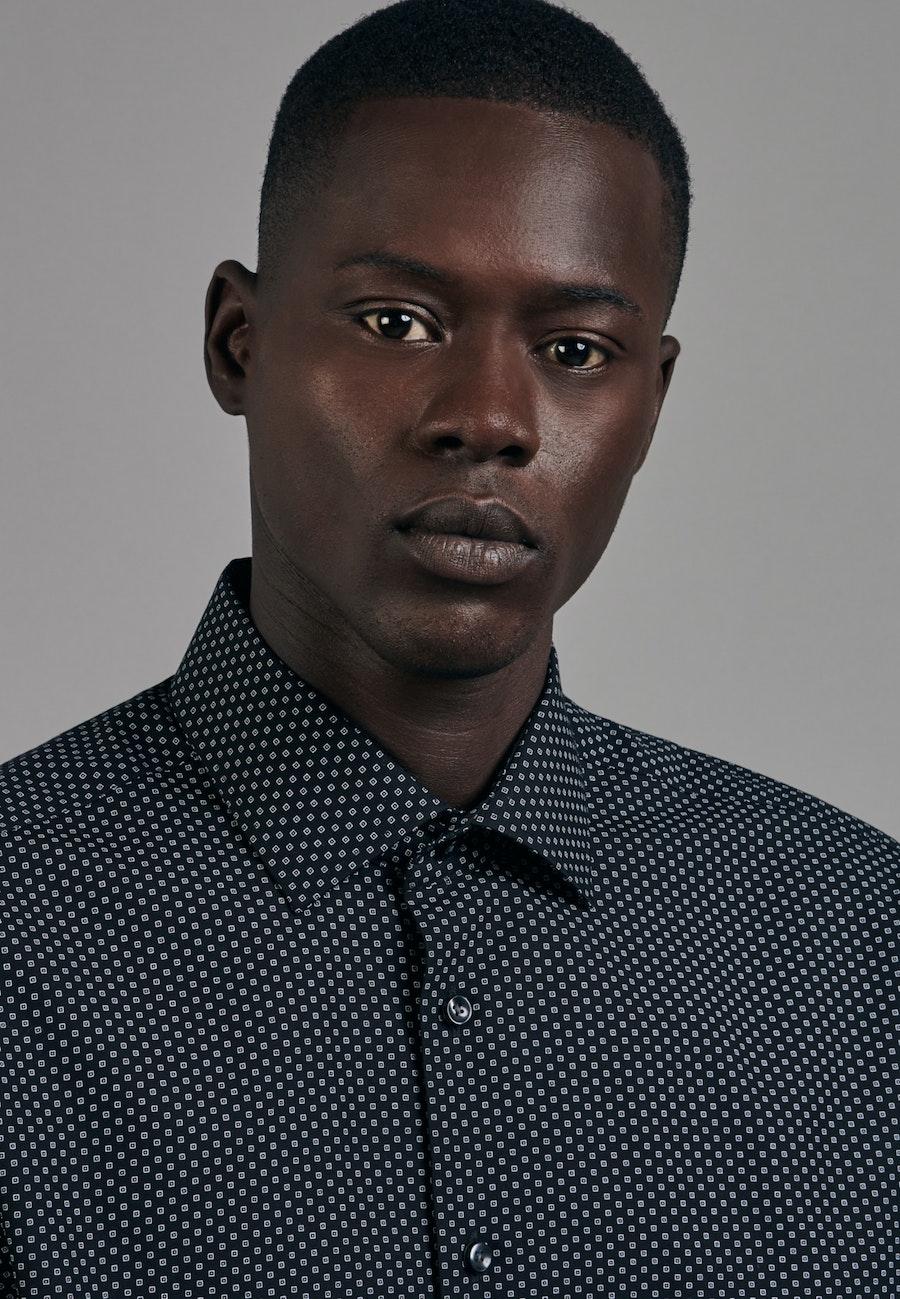 Easy-iron Popeline Business Shirt in Comfort with Kent-Collar in Black |  Seidensticker Onlineshop