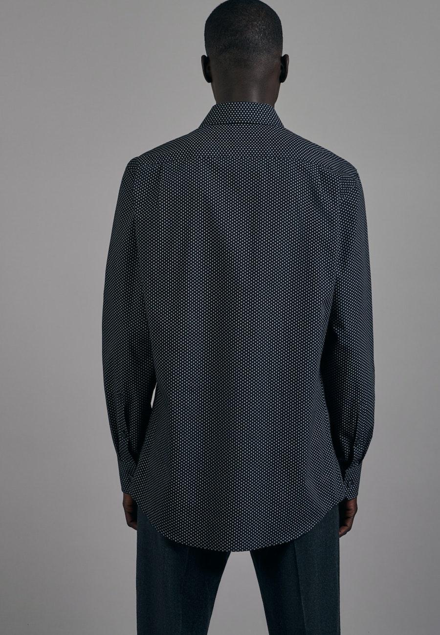 Easy-iron Poplin Business Shirt in Comfort with Kent-Collar in Black |  Seidensticker Onlineshop