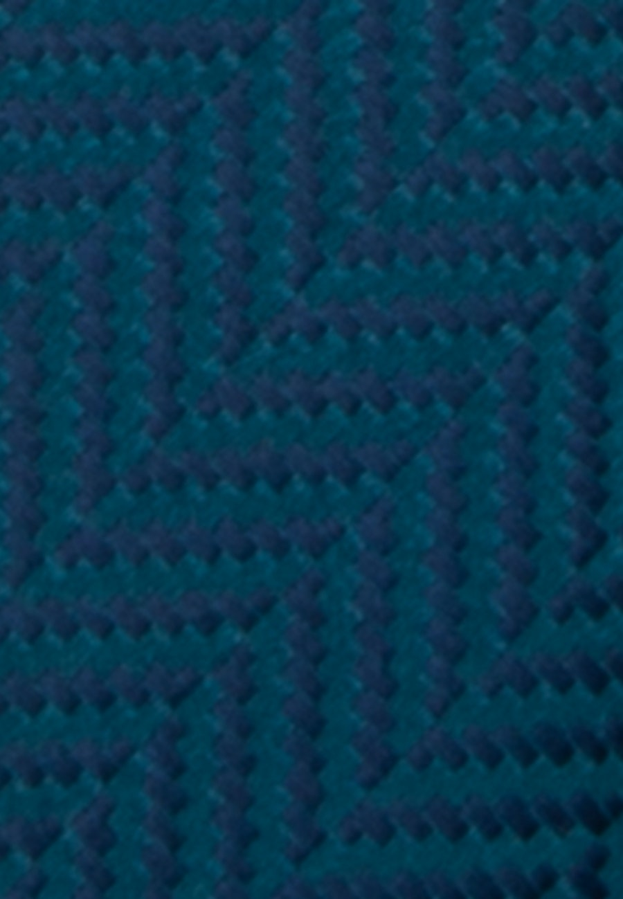 Krawatte aus 100% Seide 7 cm Breit in Türkis/Petrol |  Seidensticker Onlineshop