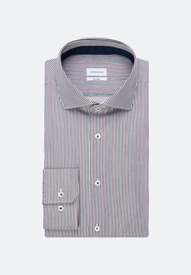 Bügelfreies Twill Business Hemd in Shaped mit Kentkragen in Rot |  Seidensticker Onlineshop