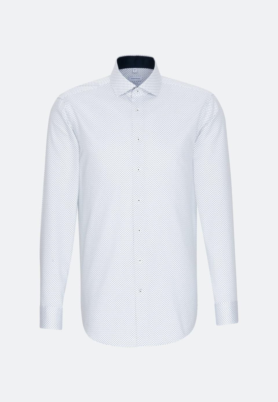 Bügelleichtes Twill Business Hemd in Regular mit Kentkragen und extra langem Arm in Dunkelblau    Seidensticker Onlineshop