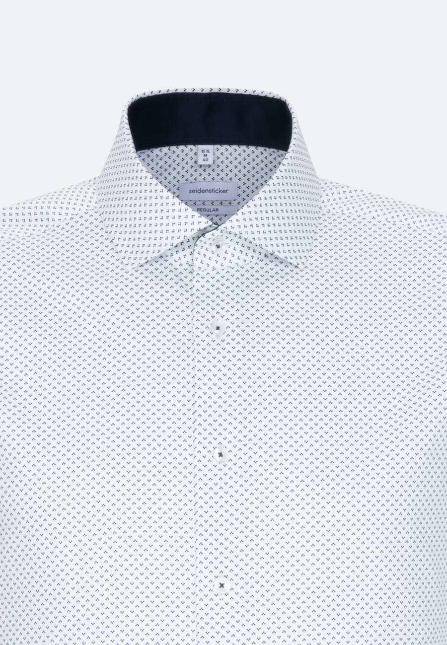 Easy-iron Twill Business Shirt in Regular with Kent-Collar and extra long sleeve in Dark blue |  Seidensticker Onlineshop
