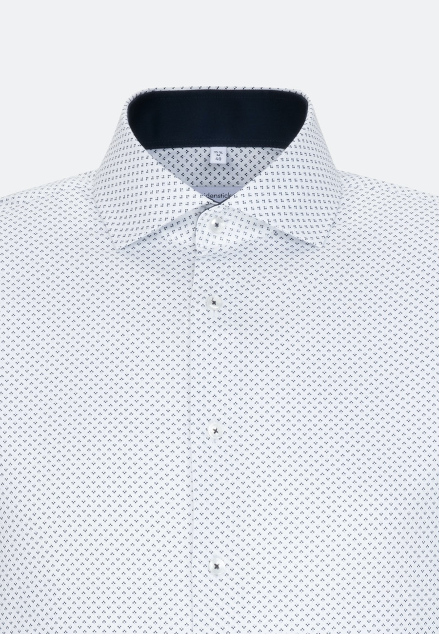 Bügelleichtes Twill Business Hemd in Slim mit Kentkragen und extra langem Arm in Dunkelblau |  Seidensticker Onlineshop