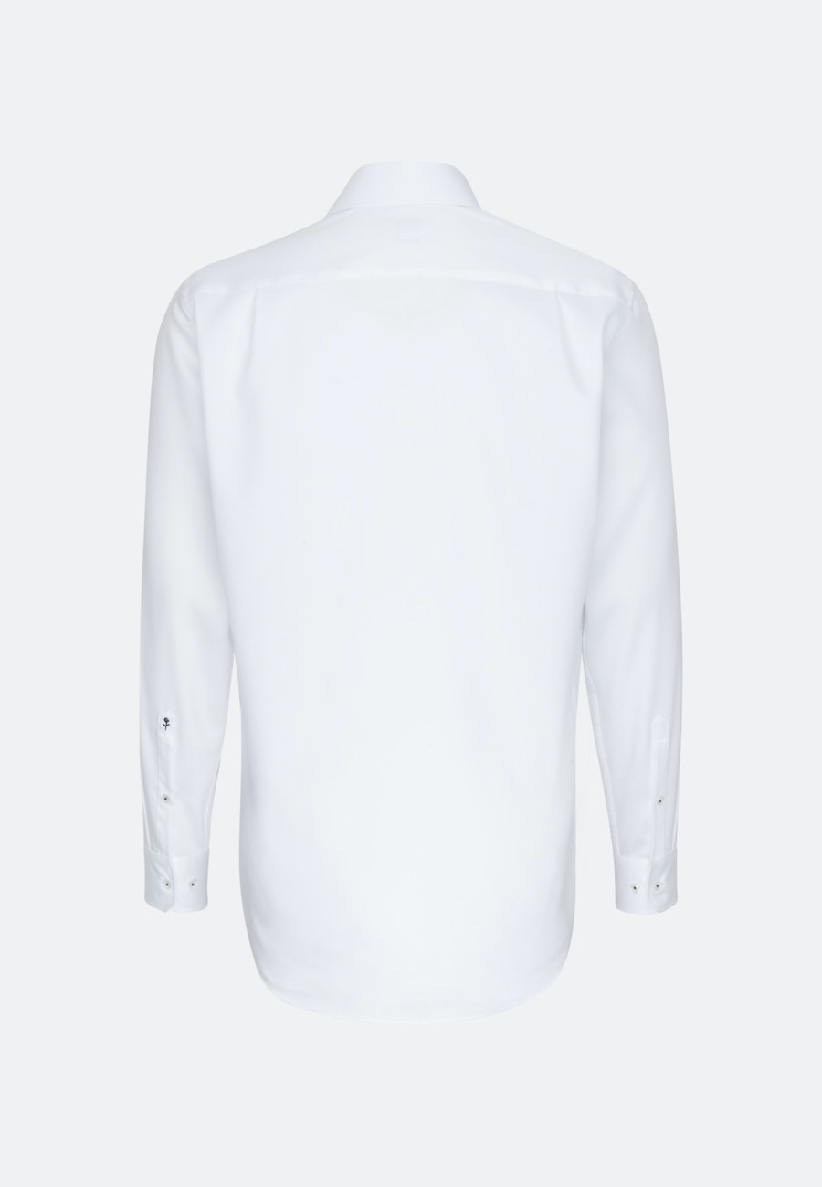 Non-iron Twill Business Shirt in Regular with Kent-Collar and extra long sleeve in White    Seidensticker Onlineshop