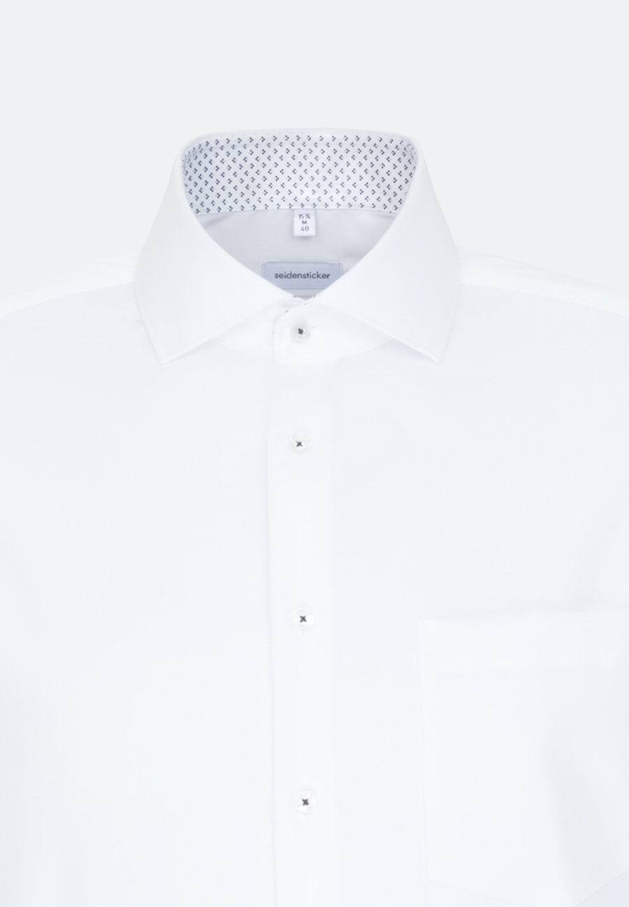 Non-iron Twill Business Shirt in Regular with Kent-Collar and extra long sleeve in White |  Seidensticker Onlineshop