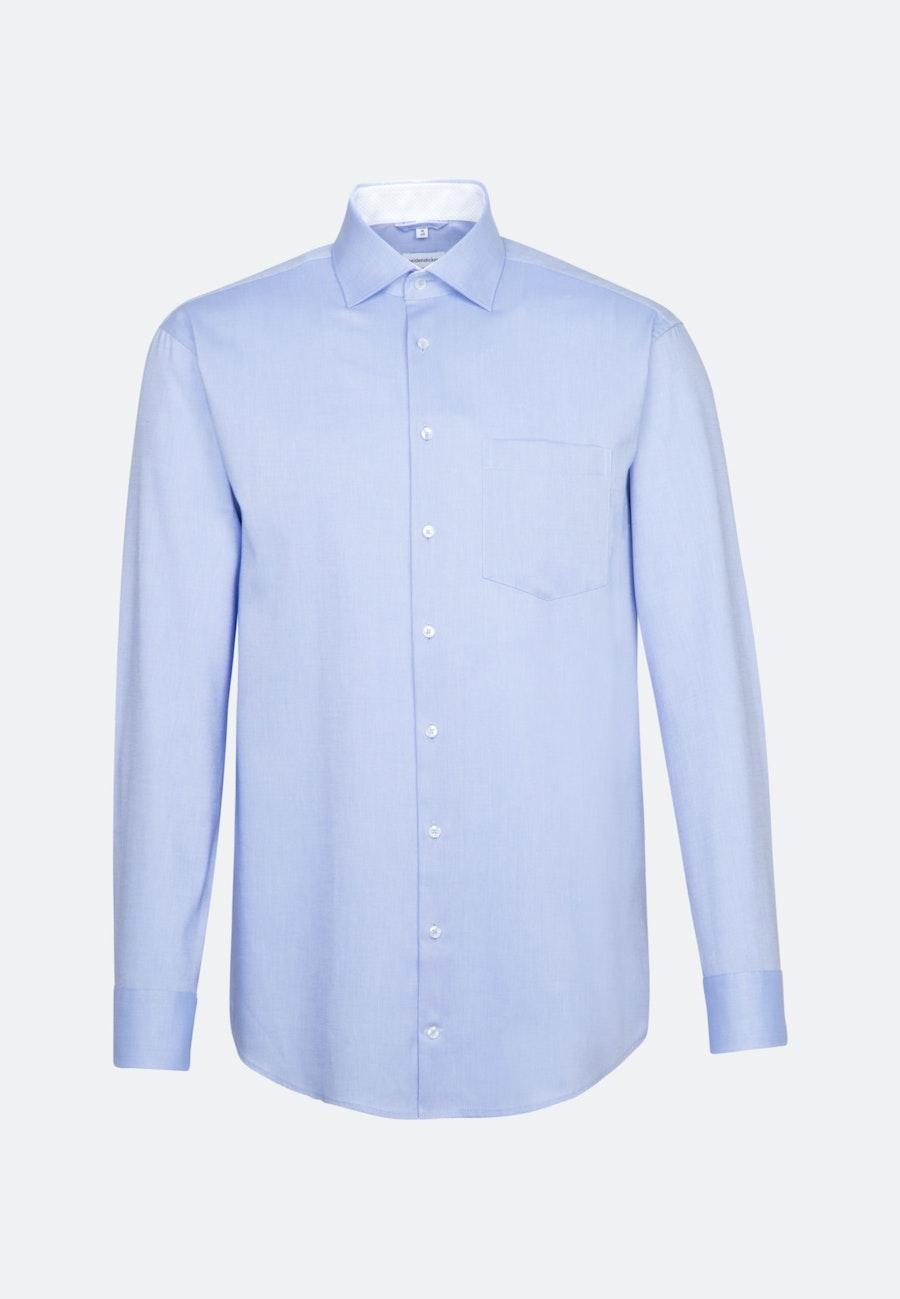 Bügelfreies Oxford Business Hemd in Regular mit Kentkragen in Hellblau |  Seidensticker Onlineshop