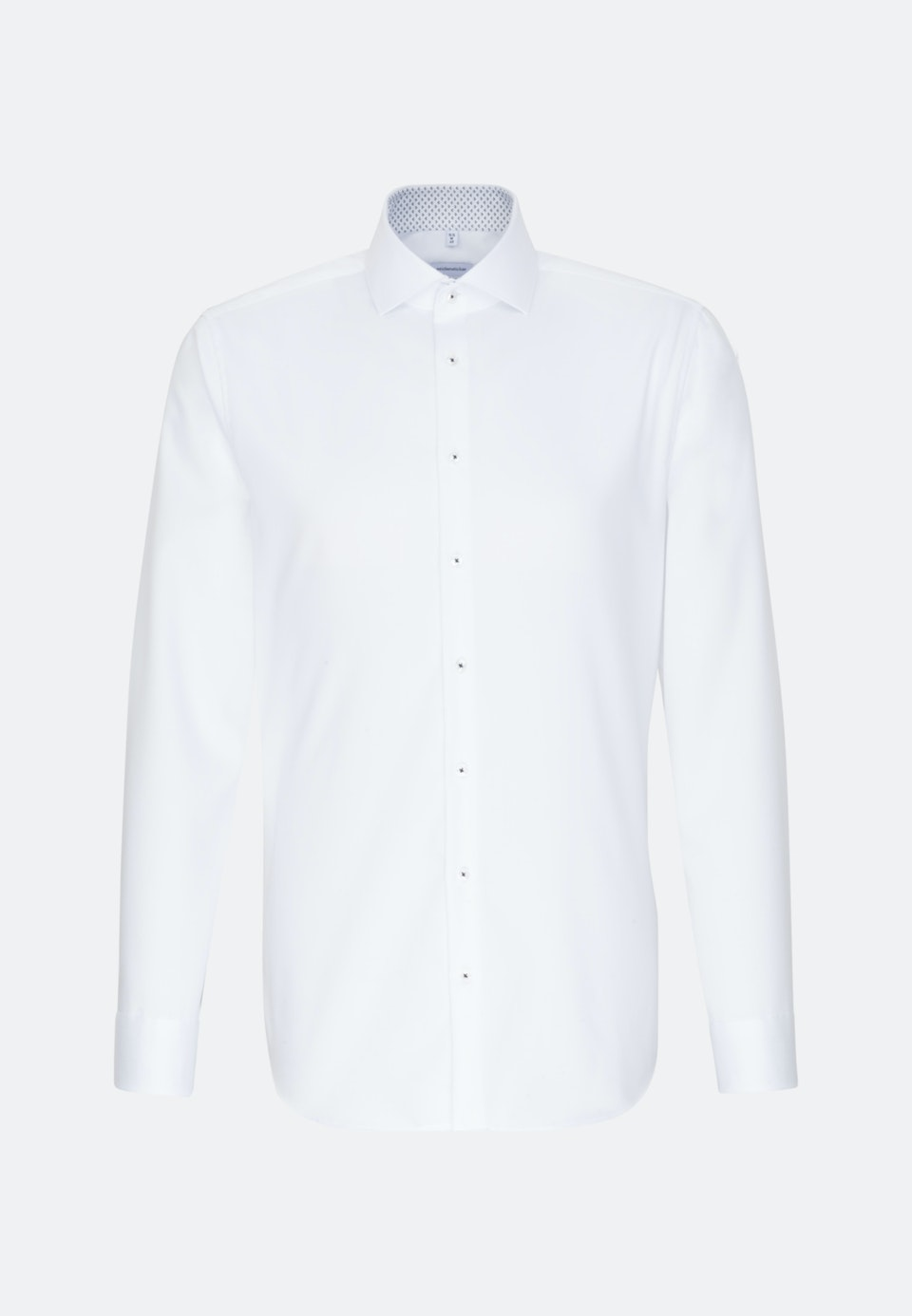 Non-iron Twill Business Shirt in Shaped with Kent-Collar and extra long sleeve in White |  Seidensticker Onlineshop