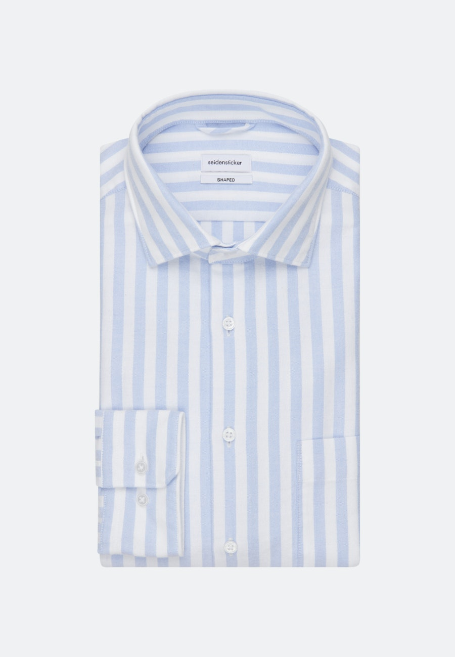 Oxford Business Shirt in Shaped with Kent-Collar in Light blue    Seidensticker Onlineshop